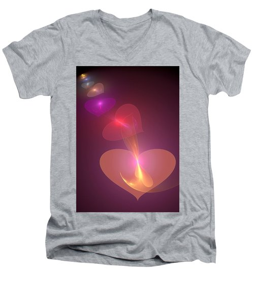 Infinite Love Men's V-Neck T-Shirt by Svetlana Nikolova
