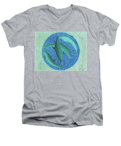 Infinity 5 Forever Peace Men's V-Neck T-Shirt