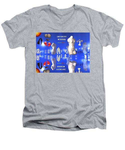 Infinity Mirror Men's V-Neck T-Shirt