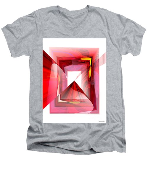 Infinity Tunnel  Men's V-Neck T-Shirt by Thibault Toussaint