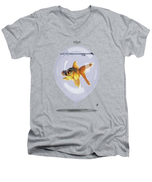 Inflated Men's V-Neck T-Shirt by Rob Snow