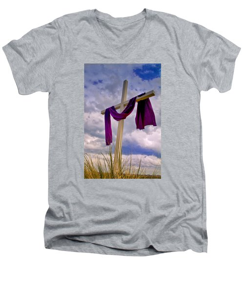 Inlet Cross Men's V-Neck T-Shirt