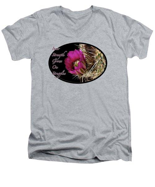 Inner Strength Men's V-Neck T-Shirt by Phyllis Denton