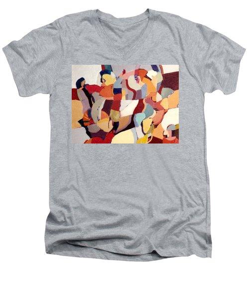 Inquisition Men's V-Neck T-Shirt by Bernard Goodman
