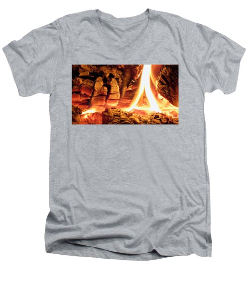 Inside Fire Men's V-Neck T-Shirt