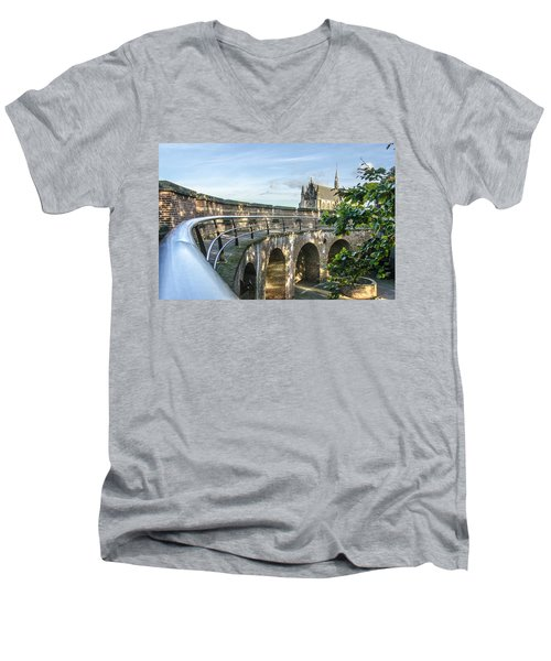 Inside The Leiden Citadel Men's V-Neck T-Shirt