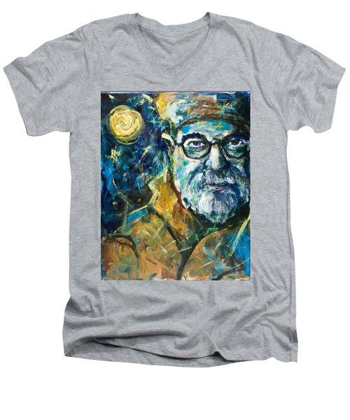 Insomnia Men's V-Neck T-Shirt by Maxim Komissarchik