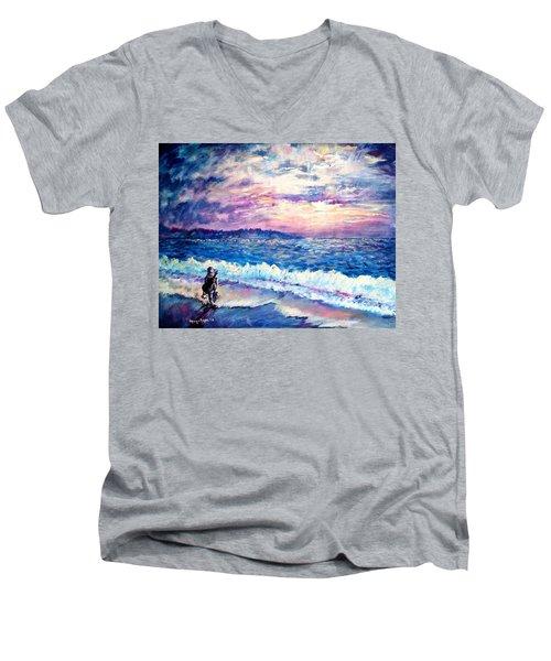 Inspiration-the Musician Men's V-Neck T-Shirt by Shana Rowe Jackson