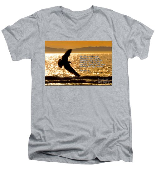 Inspirational - On The Move Men's V-Neck T-Shirt