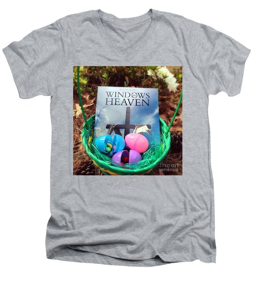 lnspirational Book Windows From Heaven Men's V-Neck T-Shirt