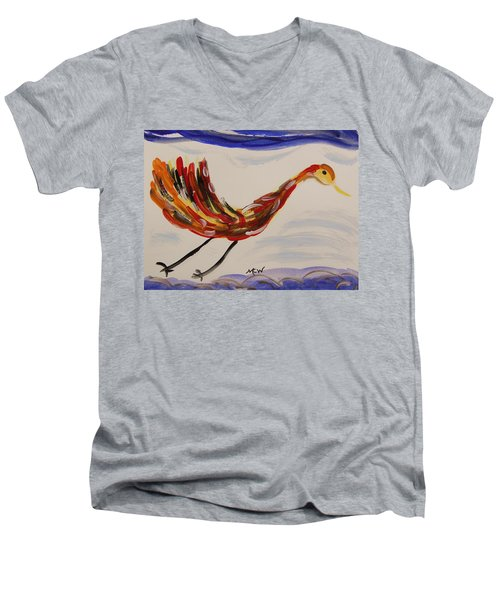 Inspired By Calder's Only Only Bird Men's V-Neck T-Shirt by Mary Carol Williams