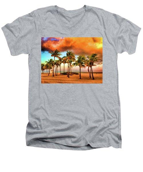 Crandon Park Beach Men's V-Neck T-Shirt
