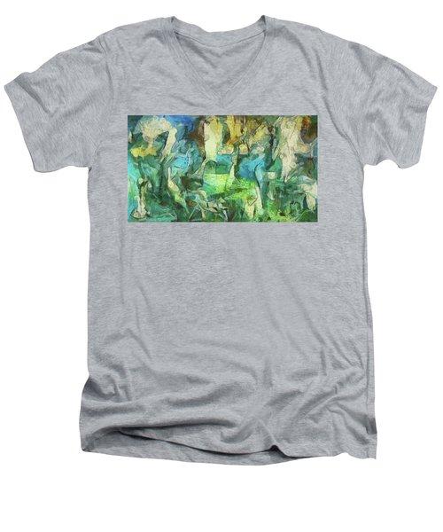 Inspired By Roberto Matta Men's V-Neck T-Shirt