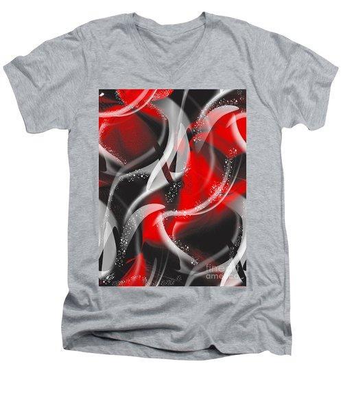 Devotion Men's V-Neck T-Shirt by Yul Olaivar