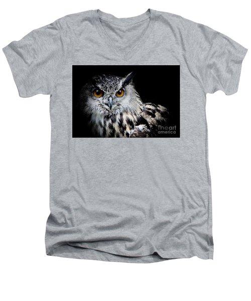 Intensity Men's V-Neck T-Shirt by Clare Bevan