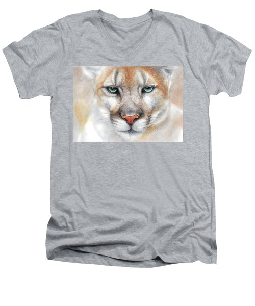 Intensity - Mountain Lion - Puma Men's V-Neck T-Shirt