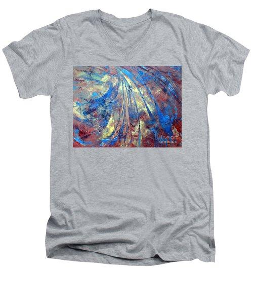 Intensity Men's V-Neck T-Shirt by Valerie Travers