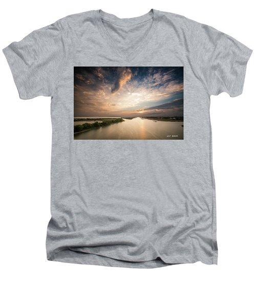 Intercoastal Sky Men's V-Neck T-Shirt