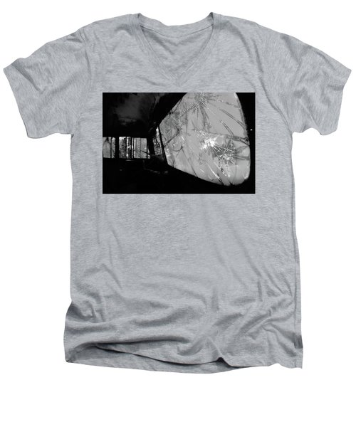 Interior In Gray Men's V-Neck T-Shirt