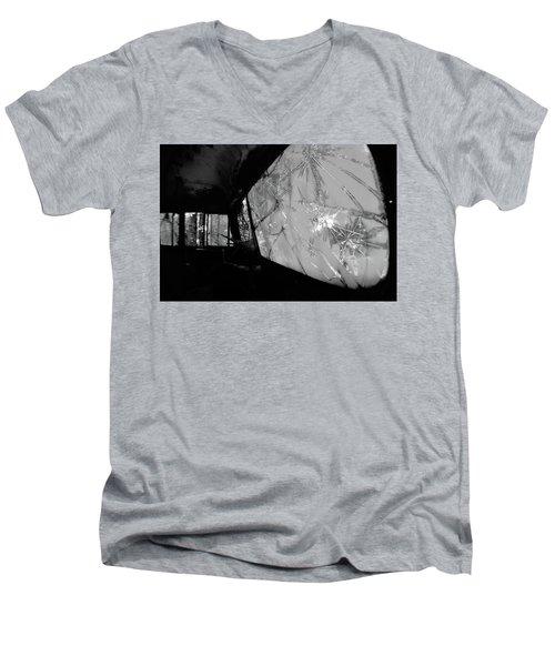 Interior In Gray Men's V-Neck T-Shirt