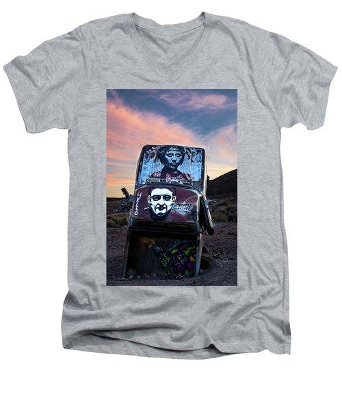 International Car Forest Of The Last Church 1 Men's V-Neck T-Shirt