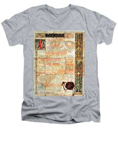 International Code Of Medical Ethics Men's V-Neck T-Shirt by Science Source