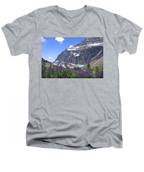 Interpretive Apps In The Canadian Rockies Men's V-Neck T-Shirt