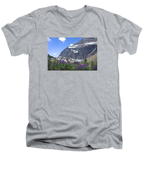 Interpretive Apps In The Canadian Rockies Men's V-Neck T-Shirt