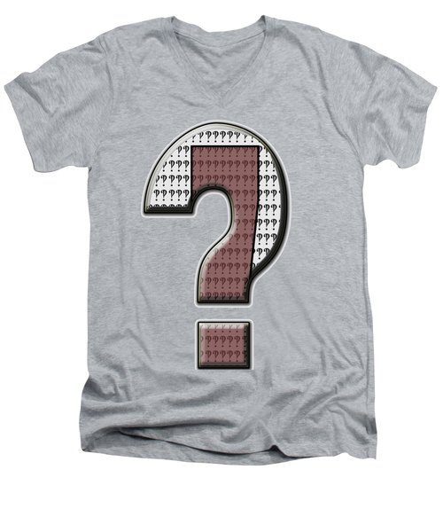 Interrobang 7 Men's V-Neck T-Shirt by Brian Wallace
