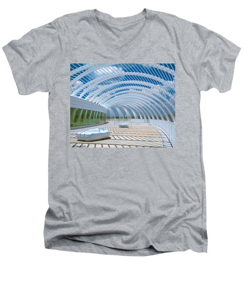 Intersecting Lines - Pastels Men's V-Neck T-Shirt