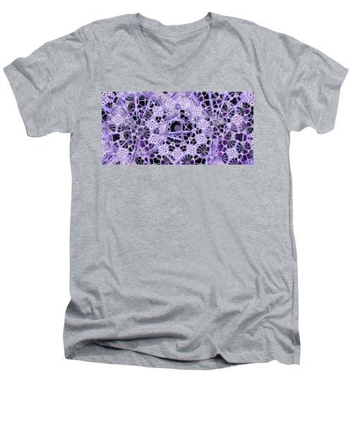 Men's V-Neck T-Shirt featuring the digital art Interwoven by Ron Bissett