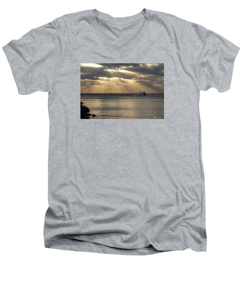 Into Dawn's Early Rays Men's V-Neck T-Shirt by Robert Banach