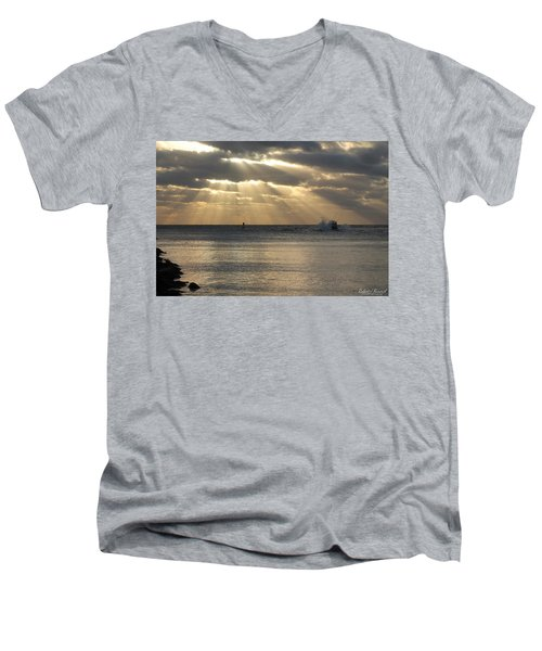 Into Dawn's Early Rays Men's V-Neck T-Shirt
