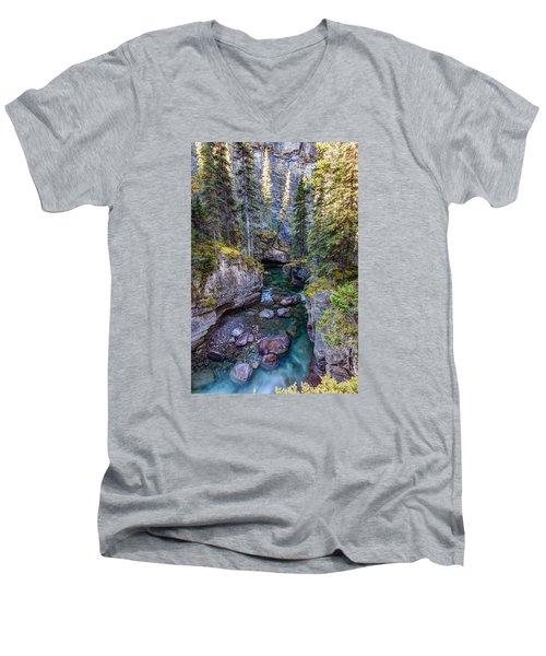 Into The Heart Of Maligne Canyon Men's V-Neck T-Shirt
