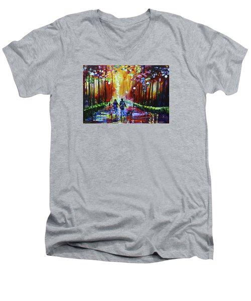 Into The Light Men's V-Neck T-Shirt
