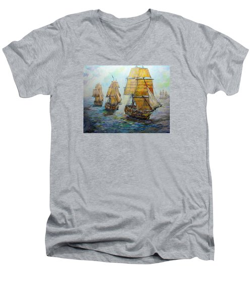Into The Mediterranean Men's V-Neck T-Shirt