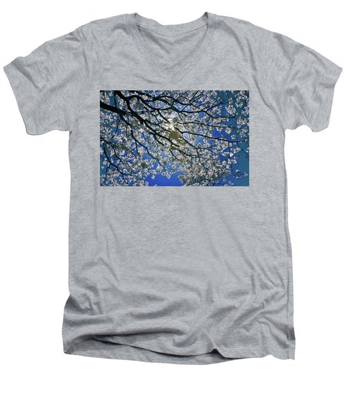 Men's V-Neck T-Shirt featuring the photograph Into The Sun by Linda Unger