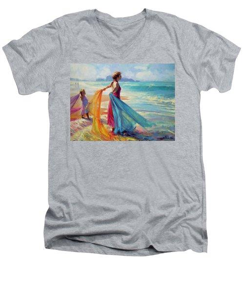 Into The Surf Men's V-Neck T-Shirt