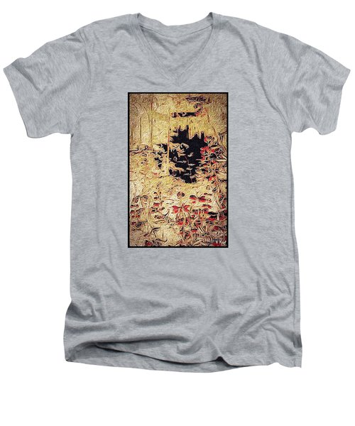 Men's V-Neck T-Shirt featuring the photograph Into The Unknown by William Wyckoff