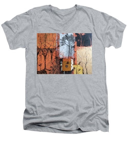 Into The Woods Men's V-Neck T-Shirt by Pat Purdy