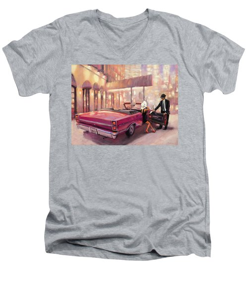 Men's V-Neck T-Shirt featuring the painting Into You by Steve Henderson