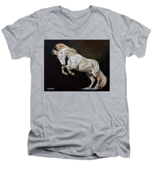 Intrepid Men's V-Neck T-Shirt by Phyllis Beiser