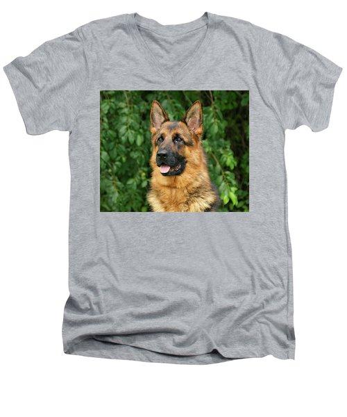 Men's V-Neck T-Shirt featuring the photograph Intriguing Ida by Sandy Keeton