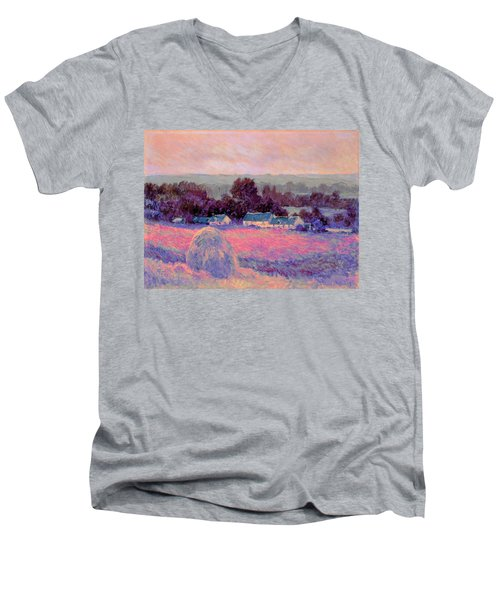 Inv Blend 10 Monet Men's V-Neck T-Shirt by David Bridburg