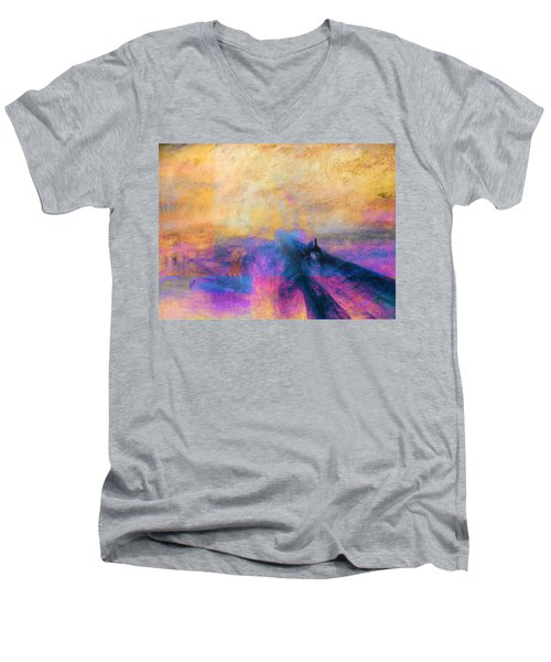 Inv Blend 12 Turner Men's V-Neck T-Shirt by David Bridburg