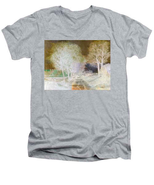 Inv Blend 4 Sisley Men's V-Neck T-Shirt by David Bridburg