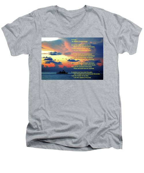 Invictus By William Ernest Henley Men's V-Neck T-Shirt