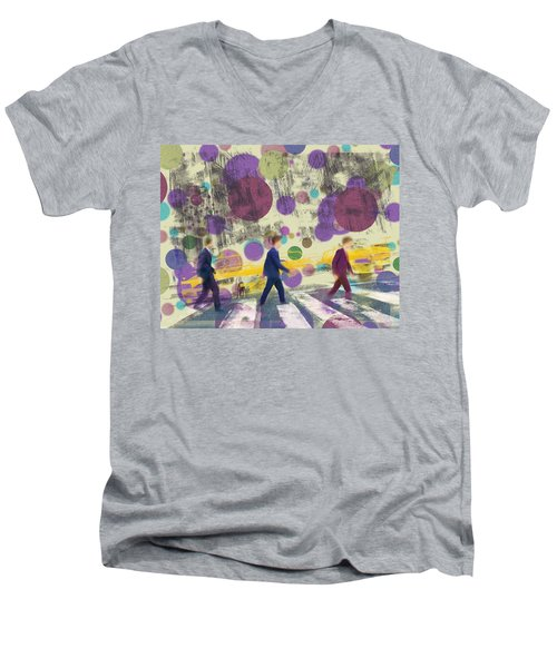 Invisible Men With Balloons Men's V-Neck T-Shirt