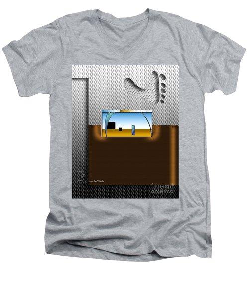 Inw_20a6112_always-never-left-fields Men's V-Neck T-Shirt