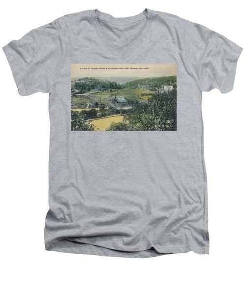 Inwood Postcard Men's V-Neck T-Shirt by Cole Thompson